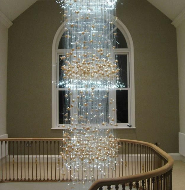 Spectacular Chandelier From Fiber Optics  Lighting Design Ideas