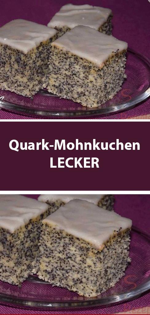 Quark-Mohnkuchen LECKER #moon