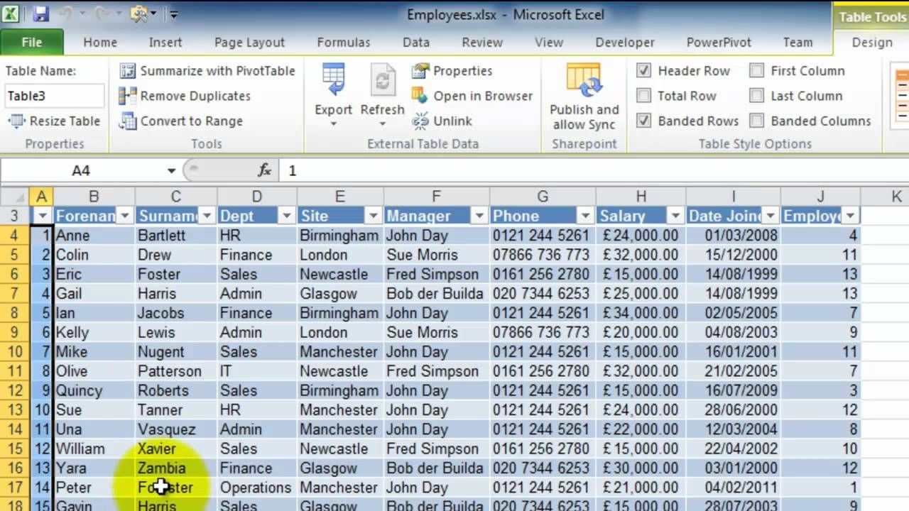 QA0001 Synchronise SharePoint with Excel Sharepoint