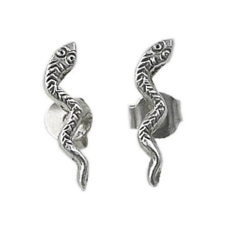Stud-Earrings shaped as a snake