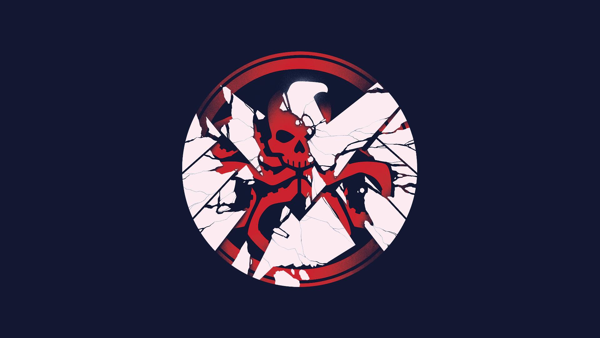 Marvel Shield X Hydra Logo Wallpaper