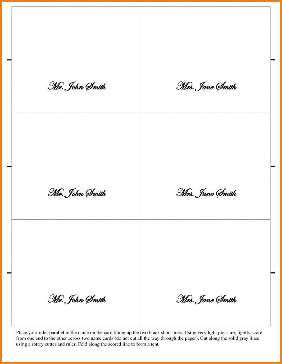 026 Place Cards Template Word Ideas Table Card Tent New Intended For Microsoft Word Place Card T Place Card Template Postcard Template Place Card Template Word