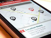 Nice mobile map UI