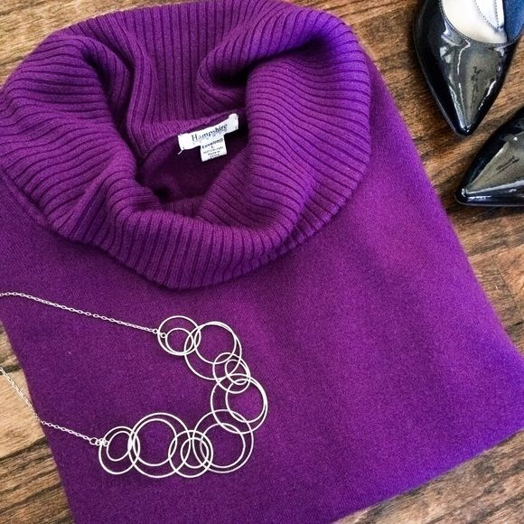 Super soft purple sweater Super soft purple cowl neck sweater. Hampshire Studio Sweaters Cowl & Turtlenecks