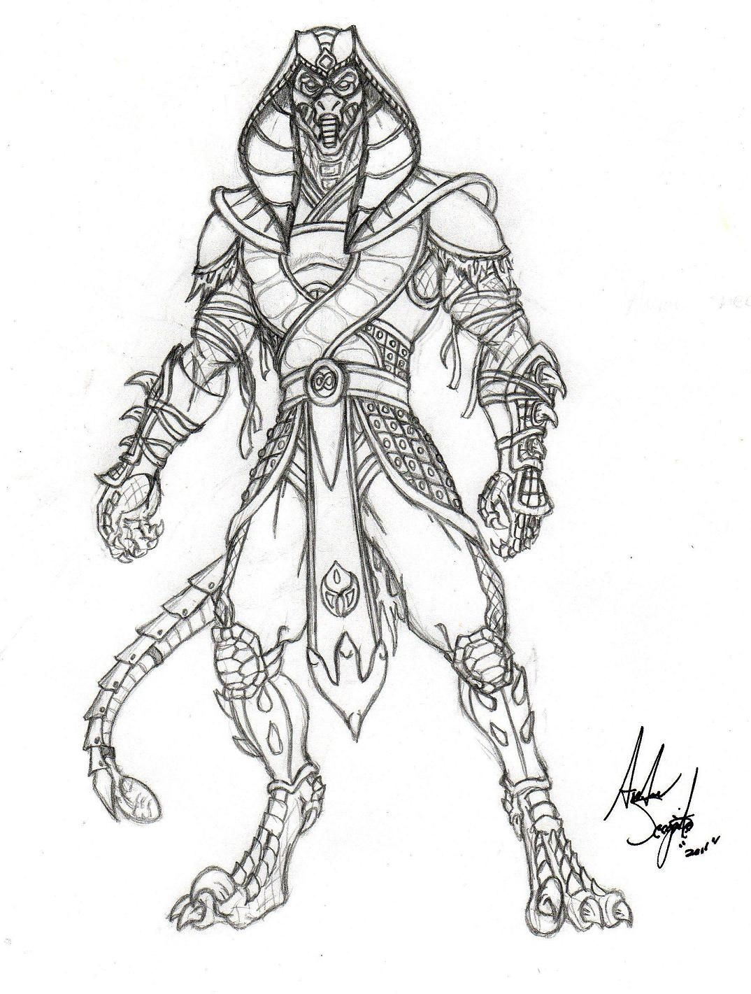 mortal kombat coloring pages Free Large Images