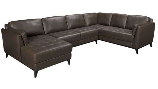 Best Chateau D Ax Shelter 3 Piece Leather Sectional Jordan S 400 x 300