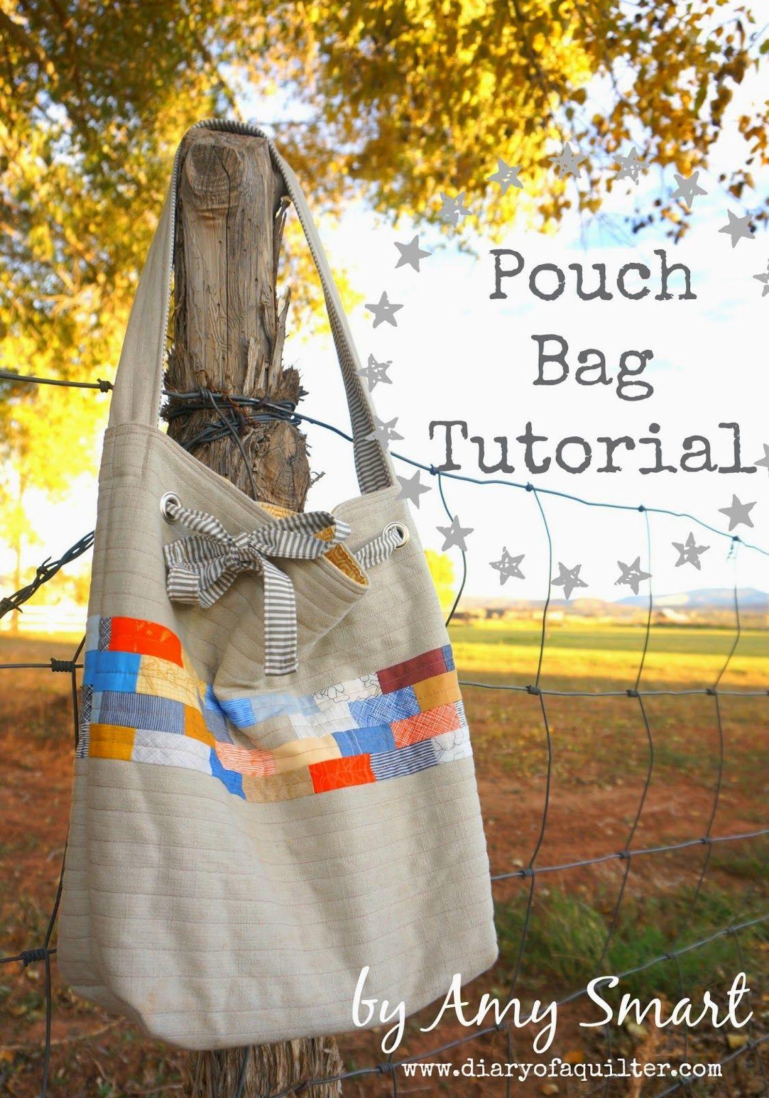 DIY Drawstring Shoulder Bag Tutorial | Pinterest | Nähen und Stil