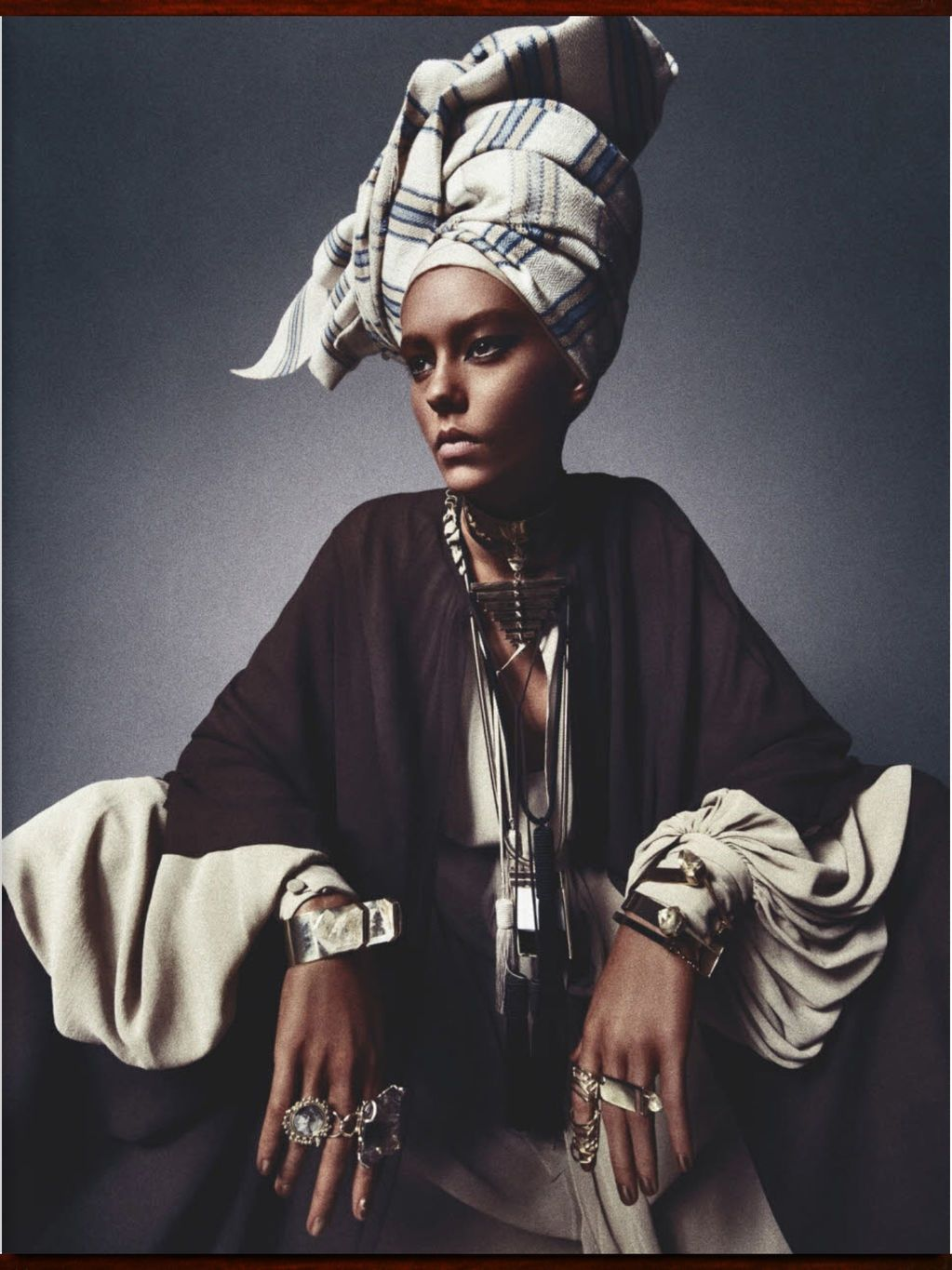 Numero Magazine- Model in Blackface #africanbeauty