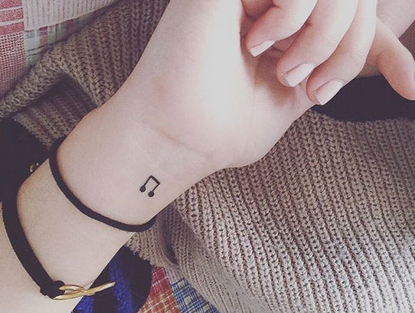 Small Music Note Tattoo Ink Youqueen Girly Tattoos Music