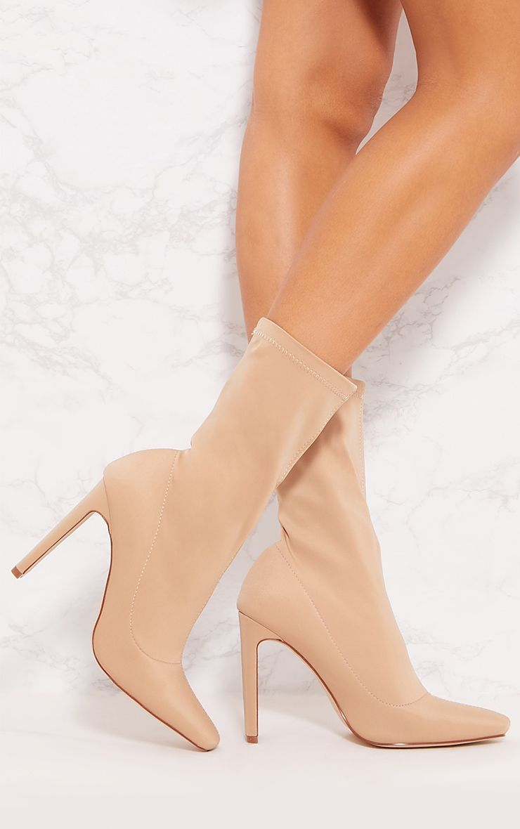 Sand Lycra Heeled Sock Boot | Socks and