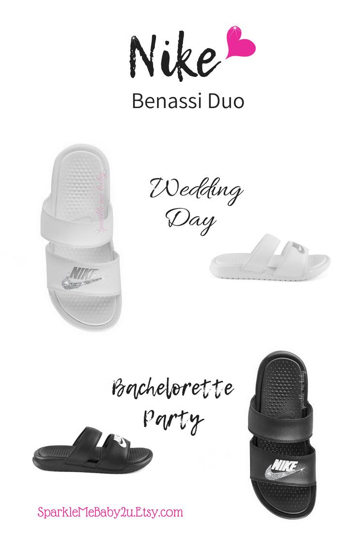 14ca7ae22e8f  wedding  nike  slides  benassi  duo  sparklemebaby2u  blingbling   nikeslide  slides