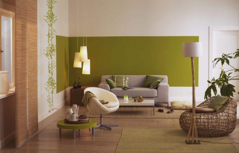 die farbe gr n bestimmt diesen wohnraum und bringt frische. Black Bedroom Furniture Sets. Home Design Ideas
