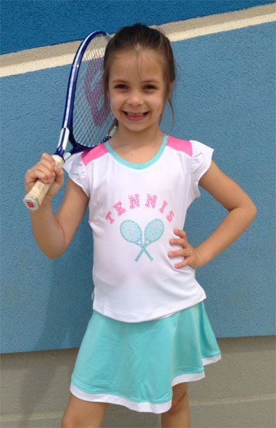 9ae88383ef929 CLEARANCE Little Miss Tennis Junior Girls Tennis Outfits (Polo Shirt ...