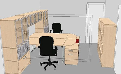 T Shape 2 Home Office Layouts Office Layout Home Office Design