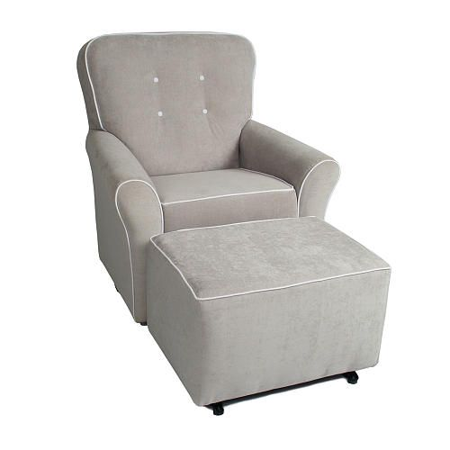 Kacy Collection Morgan Nursery Swivel Glider Crushed