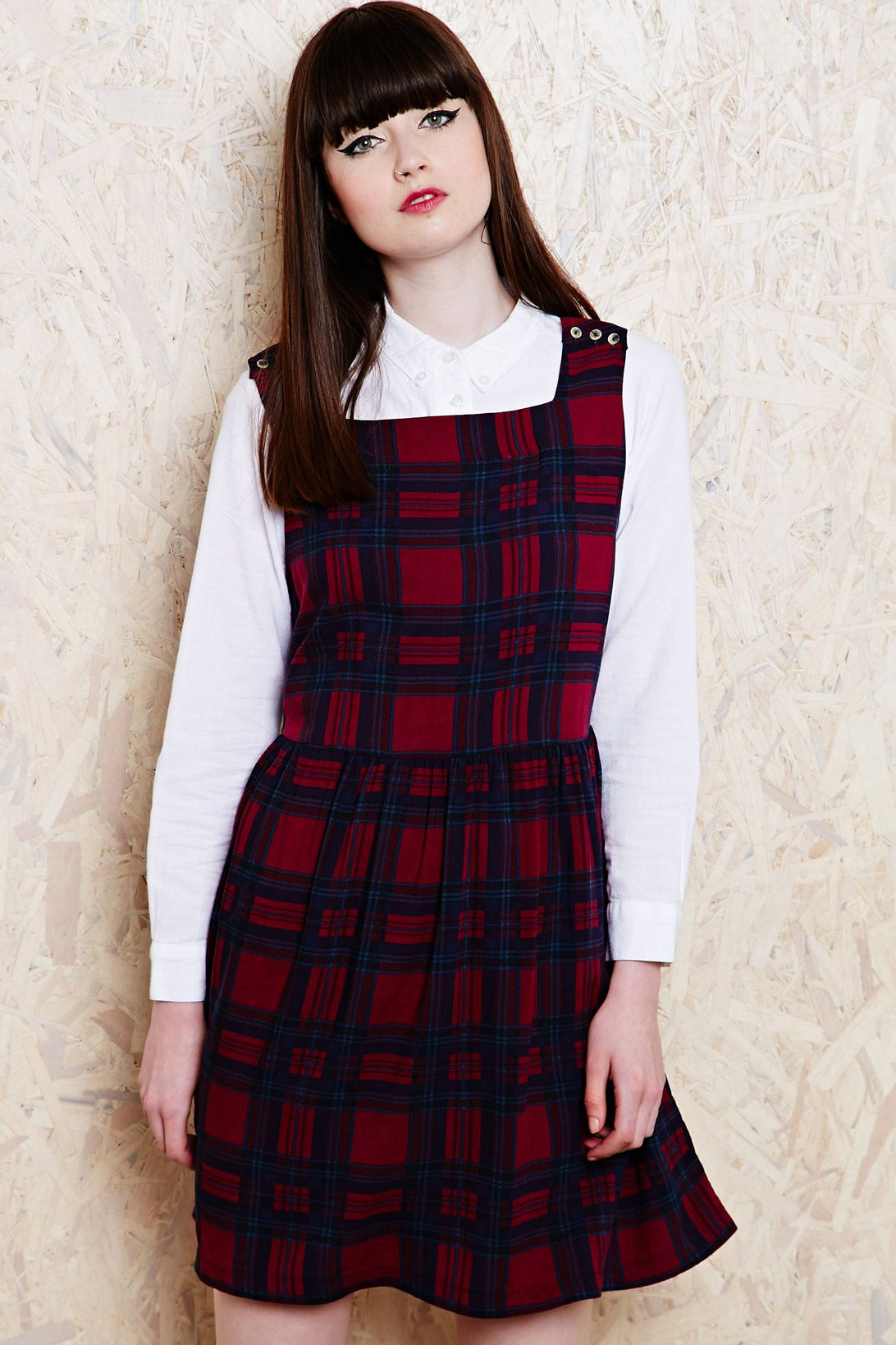 Cooperative Check Babydoll Dress at Urban Outfitters