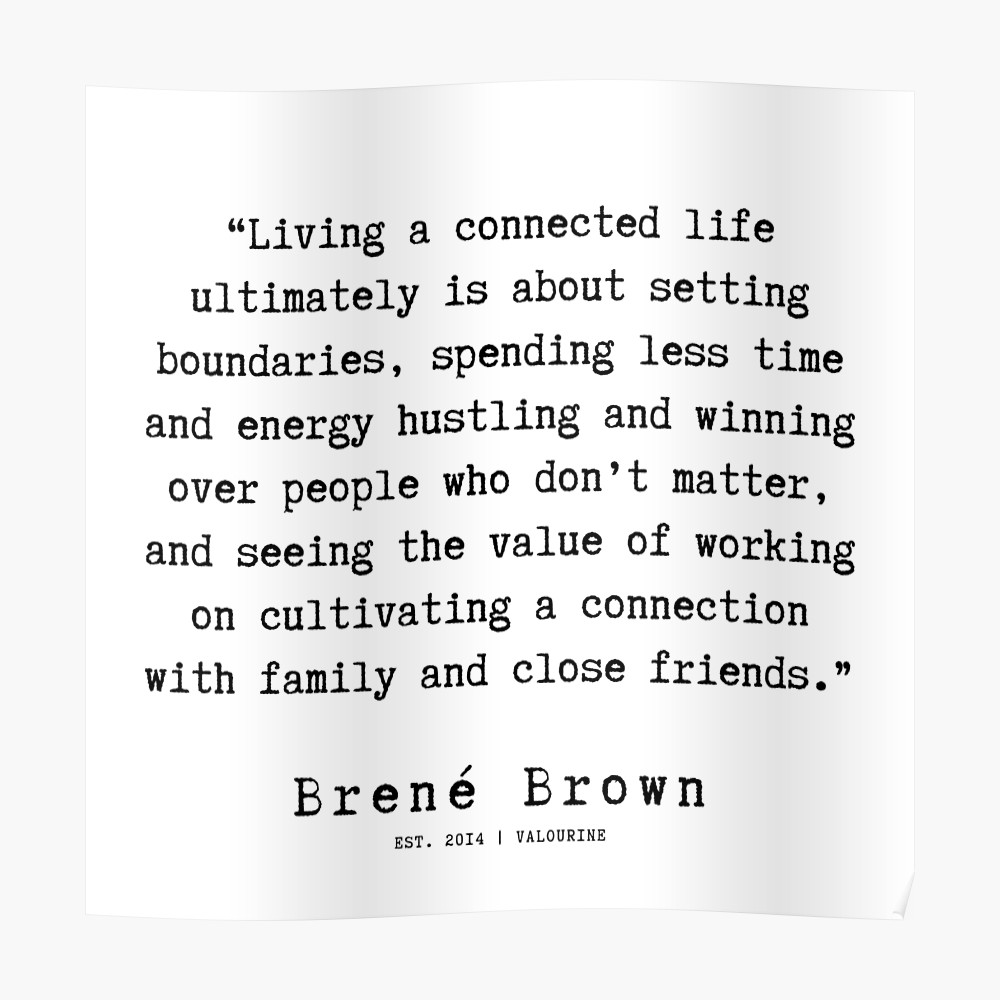 4  190911   Brene  Brown Quote    Poster by QuotesGalore