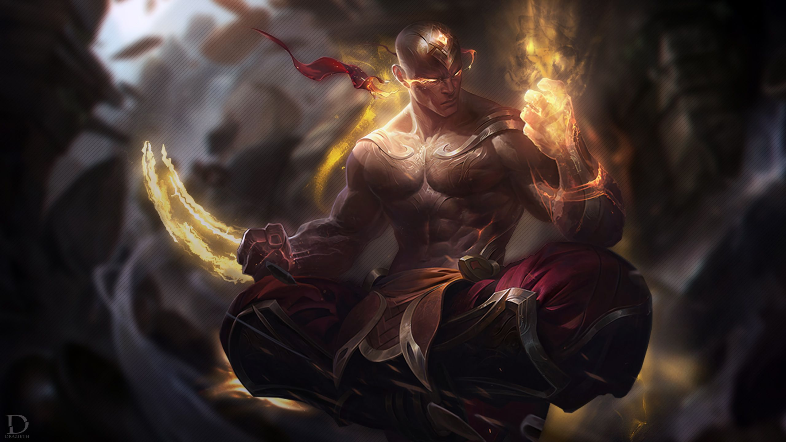 Lee Sin League Of Legends Wallpaper 4k In 2020 League Of Legends Lol League Of Legends Legend