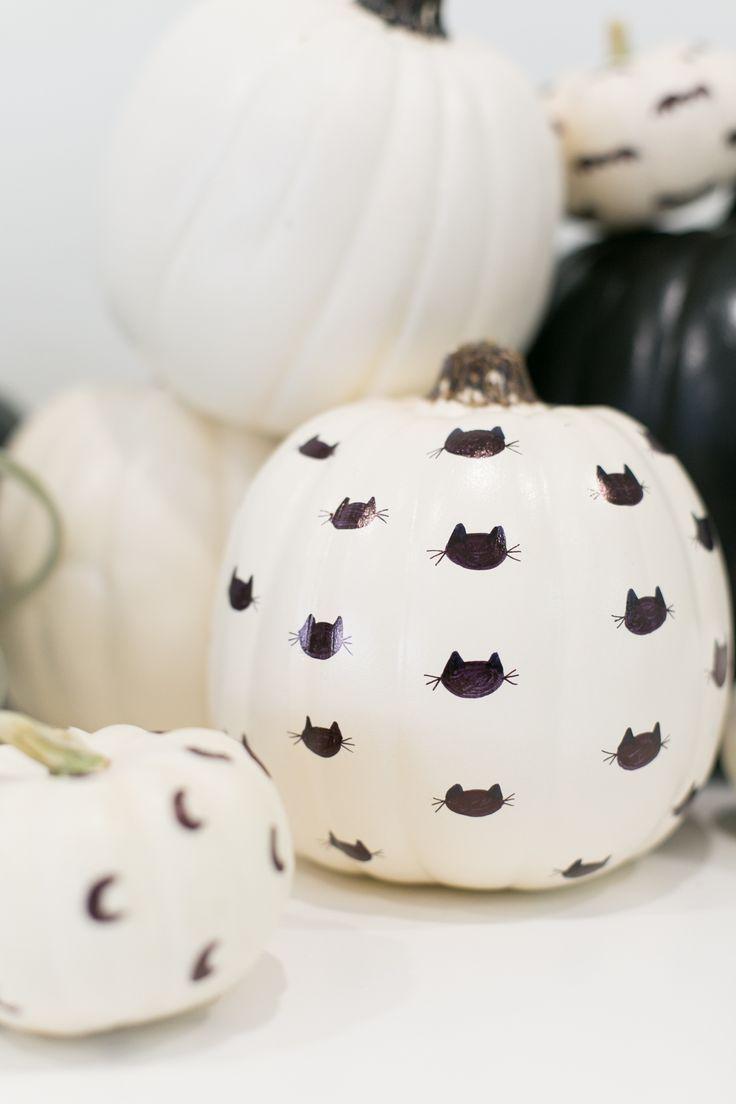 How to Make Sharpie Patterned Pumpkins -   19 easy cute pumpkin painting ideas