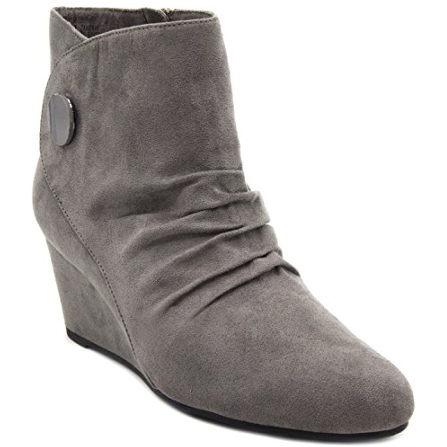 Womens Janeway Wedged Ankle Booties