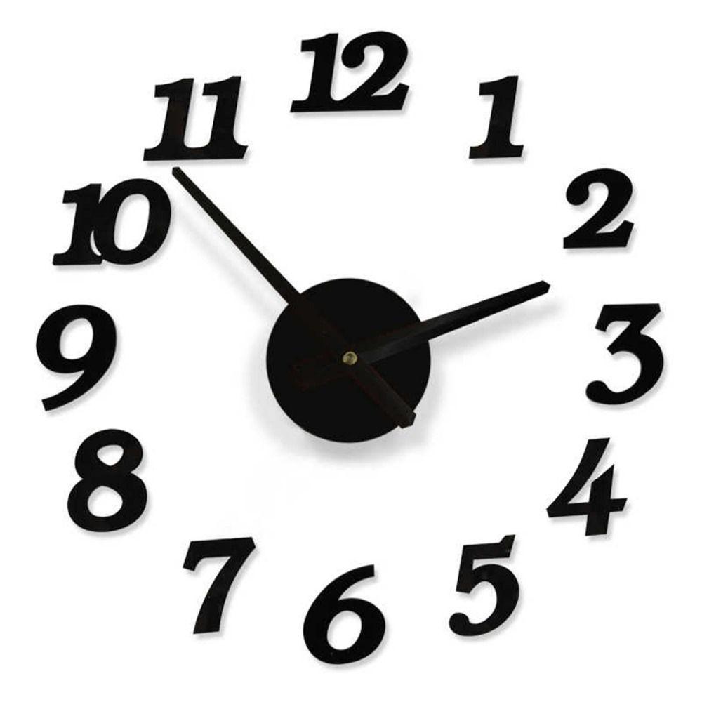 stylish diy digit number clocks interior decorating wall clock 1 aa