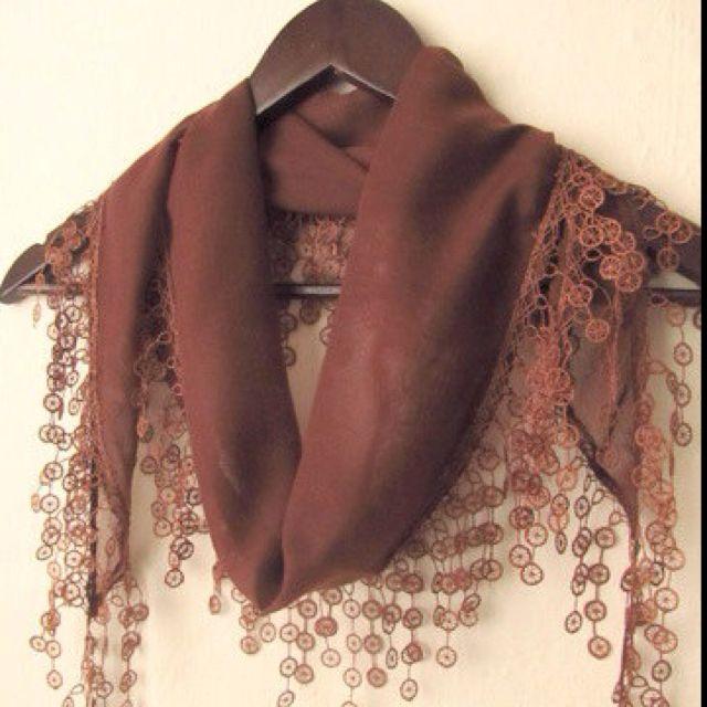 I found this on Etsy: Turkish Fabric Fringed Guipure Scarf ..bandana,headband,wedding,bridal,authent... $19.50 http://etsy.me/shtonU