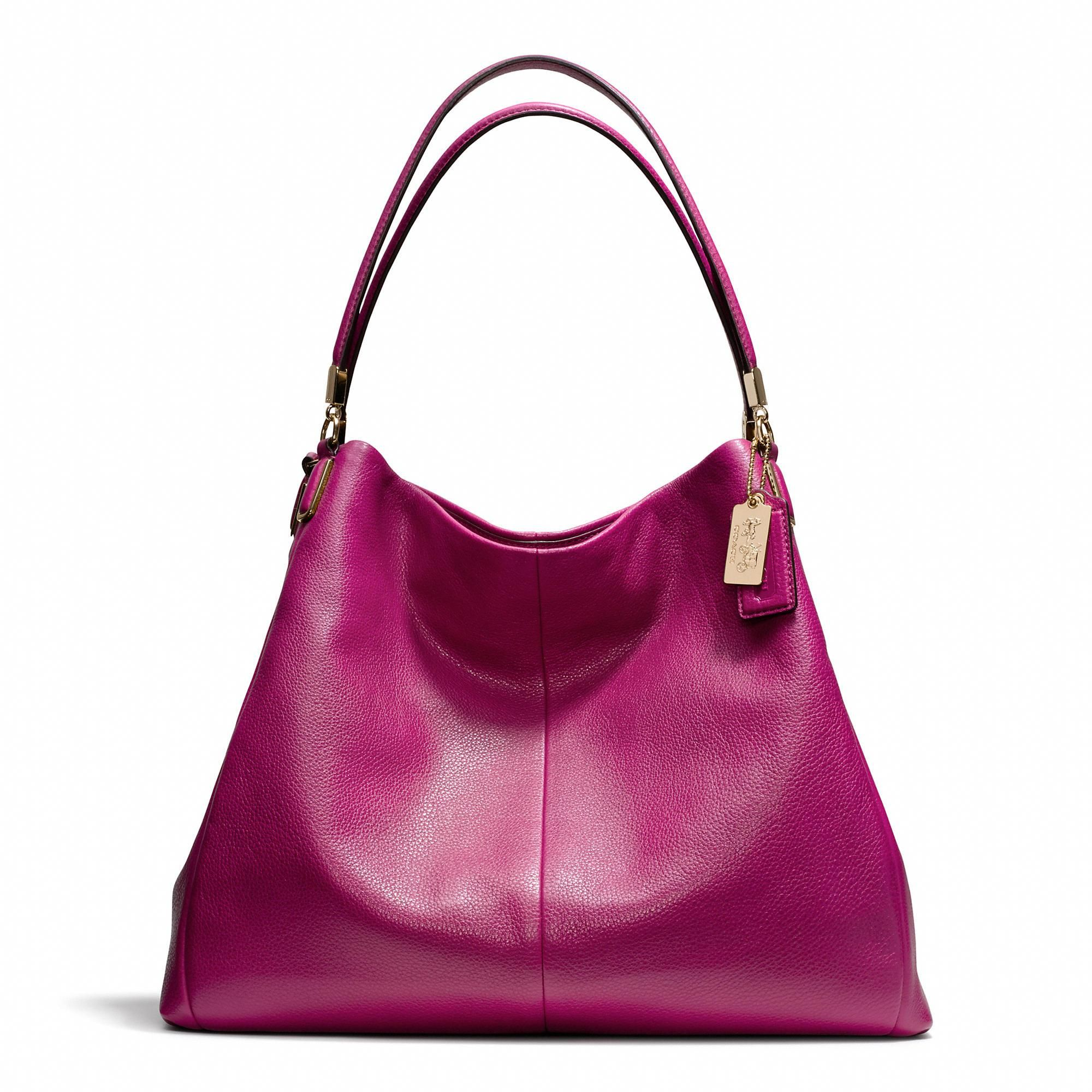 The Madison Phoebe Shoulder Bag In Leather From Coach This With A Manicure To Match Love