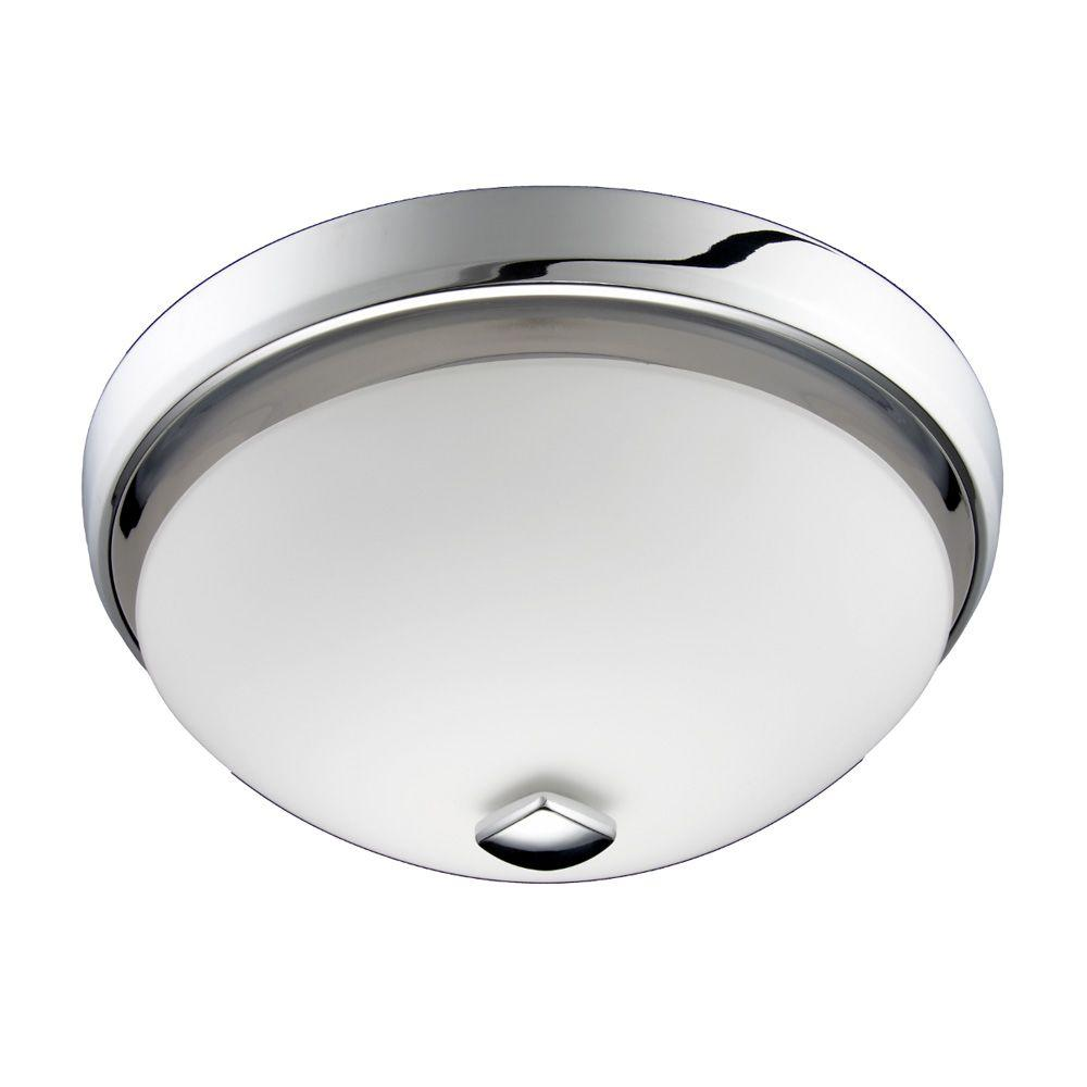 Nutone Decorative Chrome Grey 100 Cfm Ceiling Bathroom Exhaust