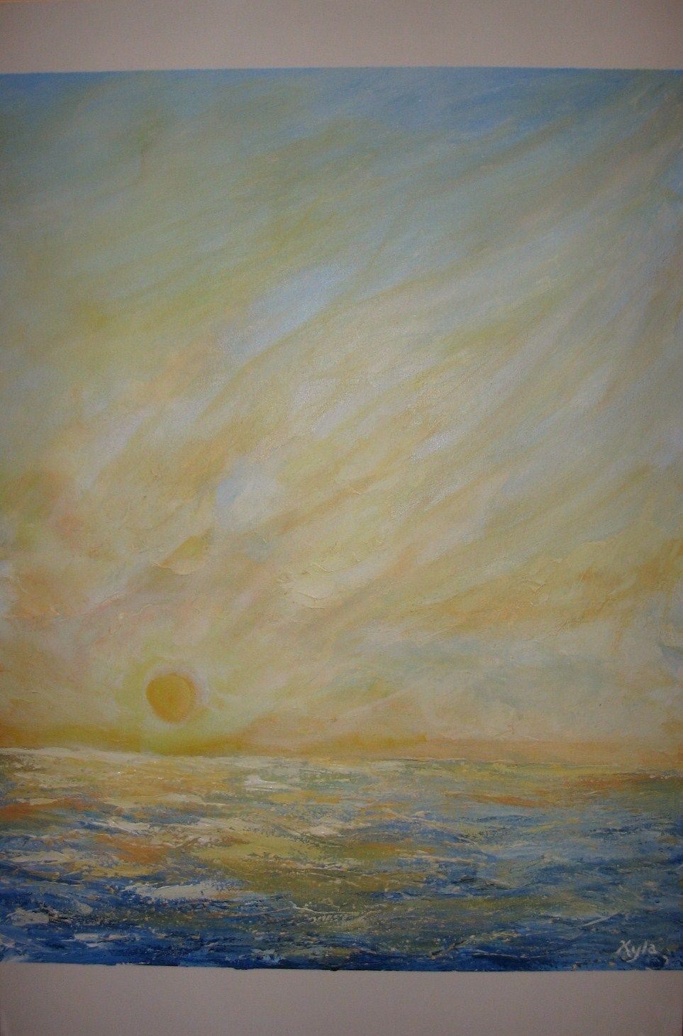""""""" First Wave """"  Acrylic on Canvas."""