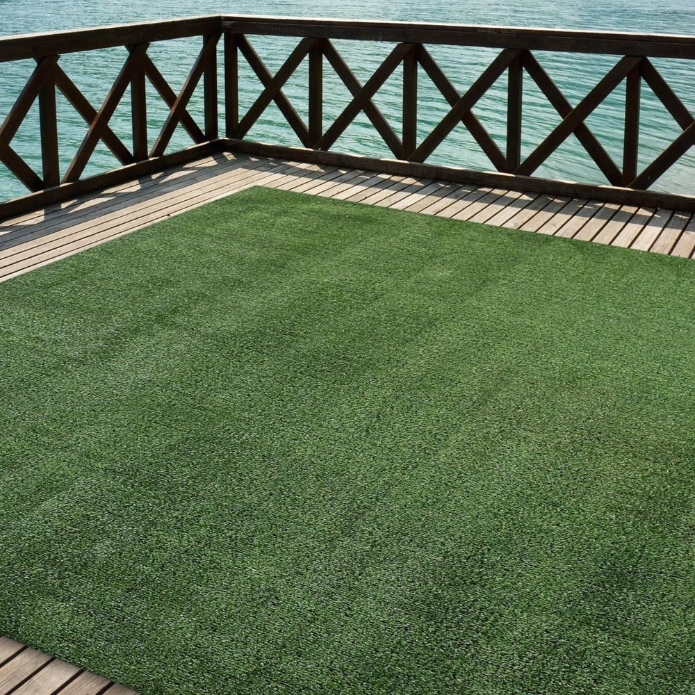 Outdoor Turf Rug Green Artificial Grass Indoor Deck Patio Carpet Mat 6 X 10 Icustomrug Best Artificial Grass Artificial Grass Artificial Plants Outdoor
