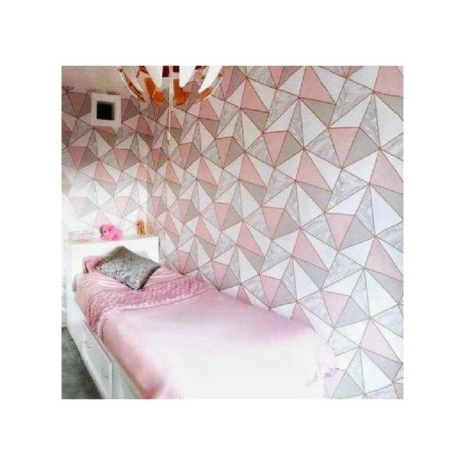 Zara Marble Metallic Wallpaper Soft Pink Rose Gold in 2020