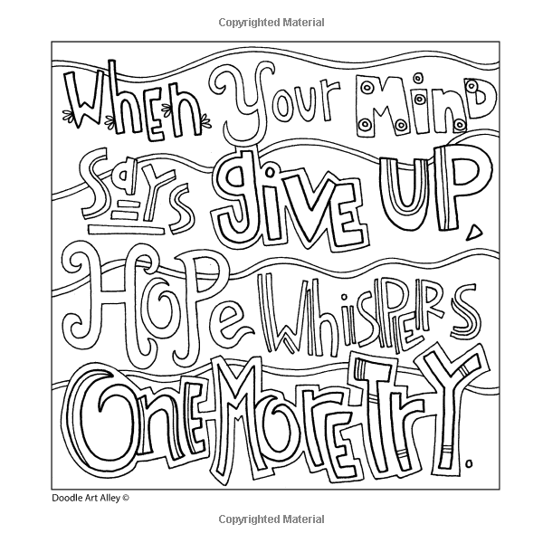 46+ Mistakes are proof that you are trying coloring page free download