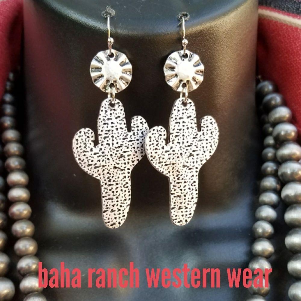 3ef5c0a7b Cowgirl Bling Gypsy CACTUS EARRINGS Silver tone concho southwestern western    Jewelry & Watches, Fashion Jewelry, Earrings   eBay!