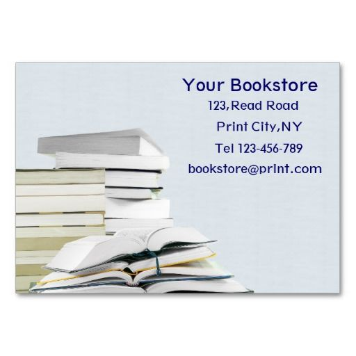 Bookstore business card template card templates bookstores and bookstore business card template reheart Gallery