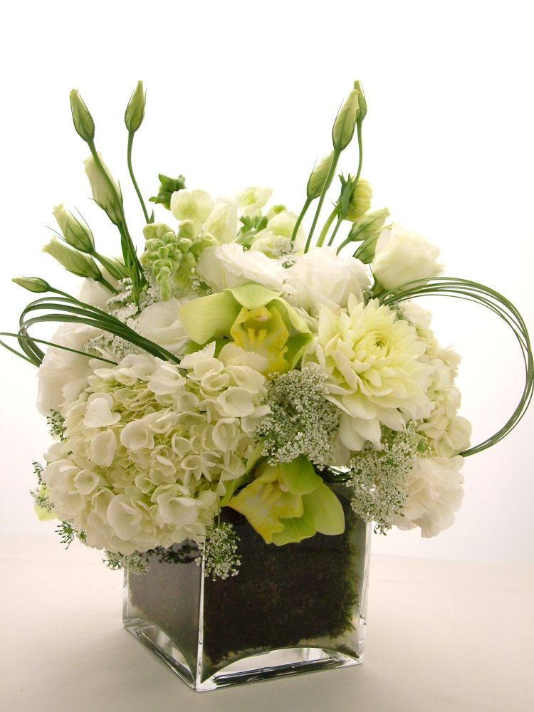 Low centerpieces white g