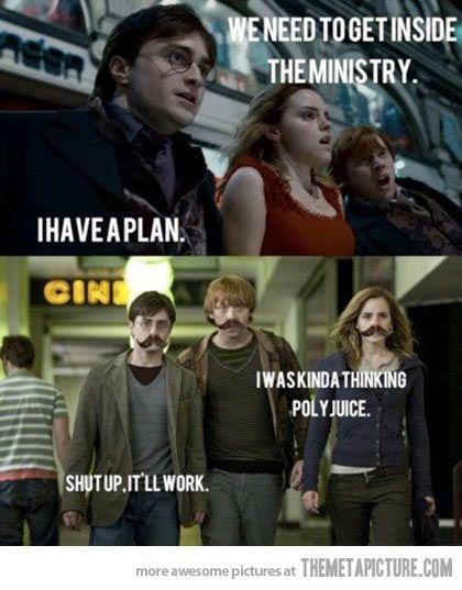 Harry has a plan … and that's why Hermione rocks ... lol