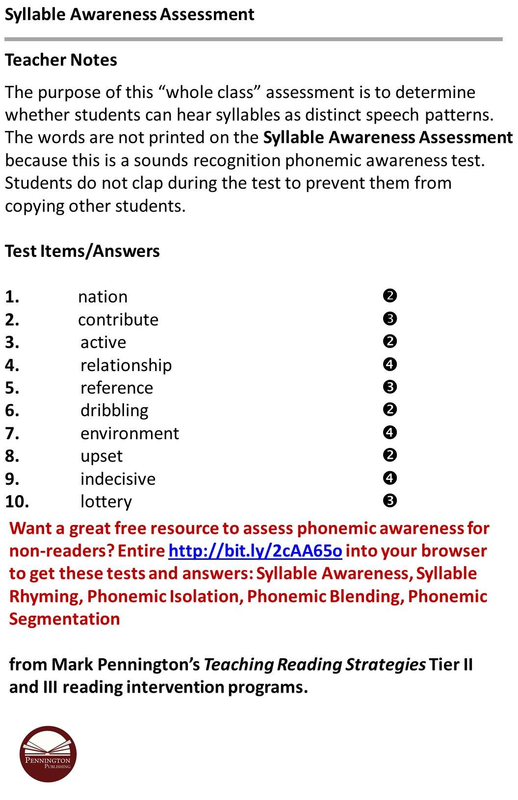Pin By Pennington Publishing On Syllable Worksheets