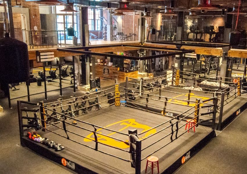 The club by george foreman iii finally opens george foreman gym and gym design for Interior design courses boston