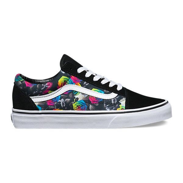d81277a4112c Rainbow Floral Old Skool ( 65) ❤ liked on Polyvore featuring shoes ...