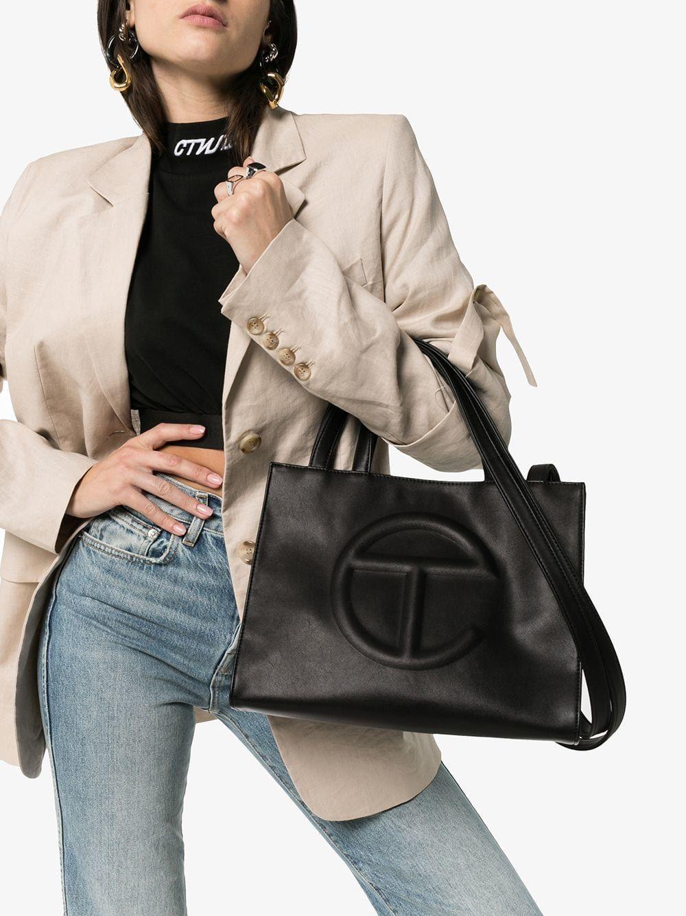 babdb0703b black Medium vegan leather shopping bag in 2019   2019   Bags ...