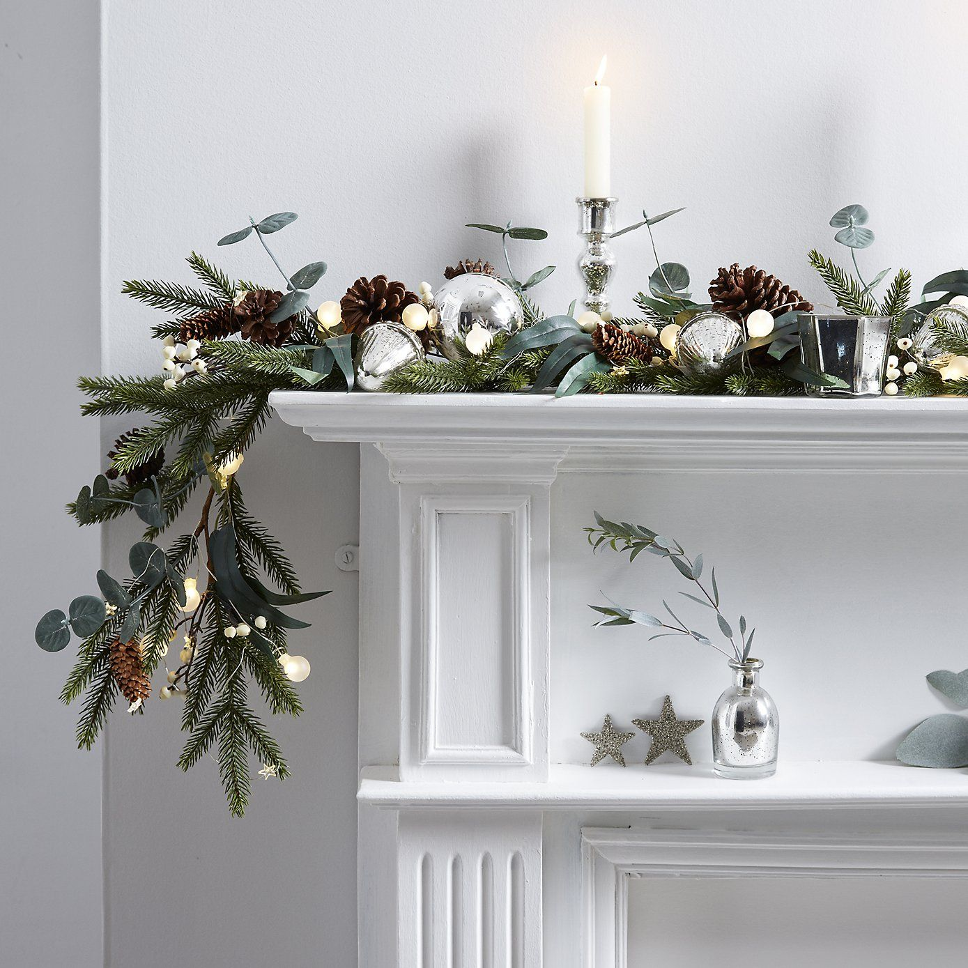 Fir & Snowberry Garland  6Ft From The White Company