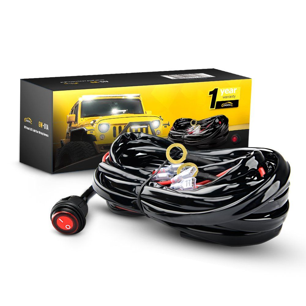 Gooacc Off Road Led Light Bar Wiring Harness Kit 12v On Offroad Lights Diagram Waterproof Switch For Vehicle