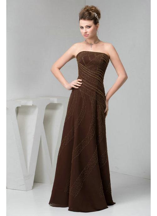 Vestidos color bronce noche