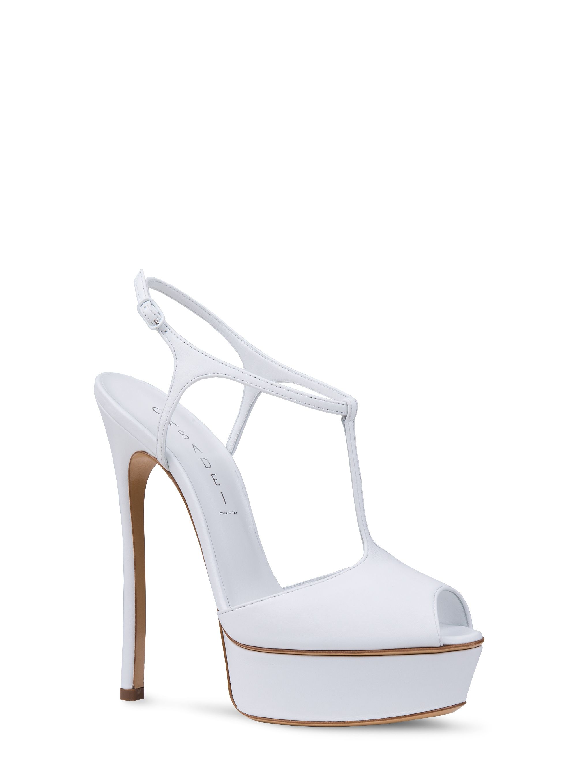 CASADEI beige leather heel sandals Sandali in pelle beige con tacco