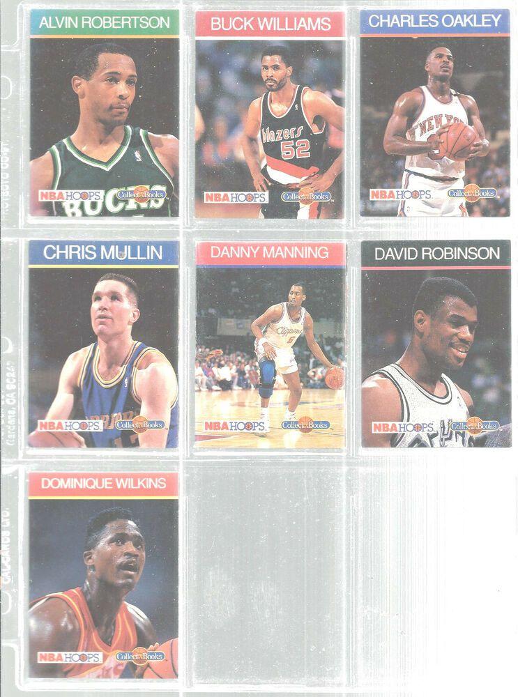 big sale ca6b7 ba6cb Lot Of 7 1990 NBA Hoops Collect A Books Cards David Robinson ...