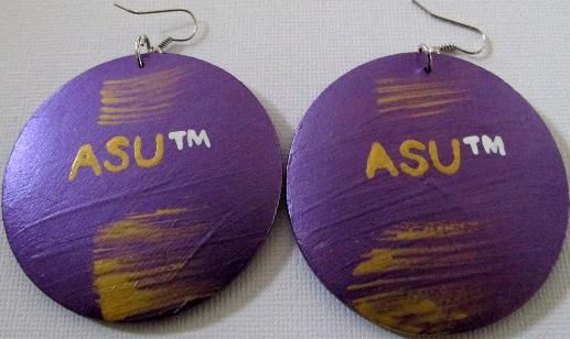 Alcorn State University Earrings Available From Www Hbcuaccessories Com With Images Christmas Bulbs Christmas Ornaments Novelty Christmas