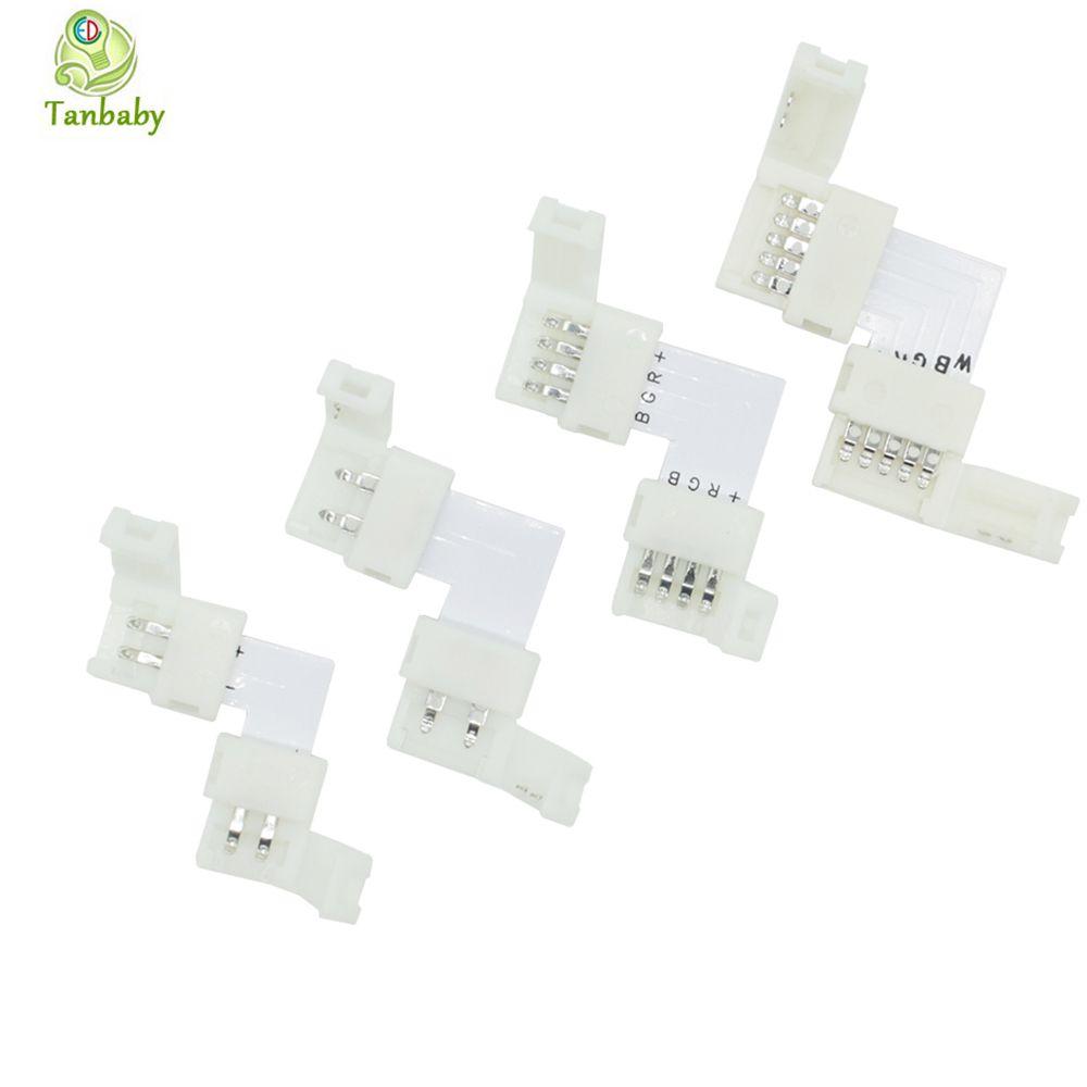 Tanbaby 5 pz L Shape LED Striscia connettore pin 8mm, pin 10mm, pin, 10mm, pin 12mm saldatura Connect per 3528 5050 5630 striscia