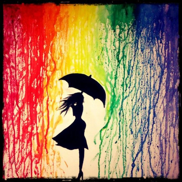 30 Beautiful Sad Pictures | Cuded balck and white with red umbrella!