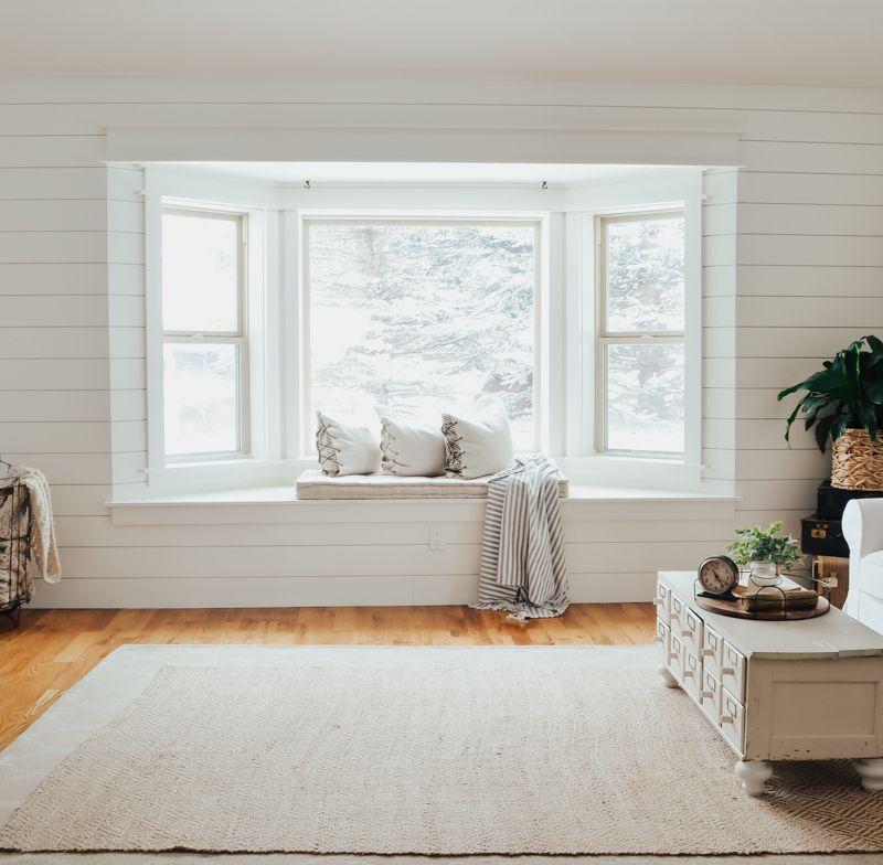 Farmhouse Style Window Seat Makeover - Sarah Joy Blog ...