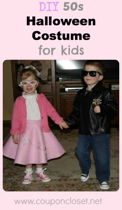 DIY 50s Halloween Costume for kids (Boys and girls!) 50s halloween - diy infant halloween costume ideas